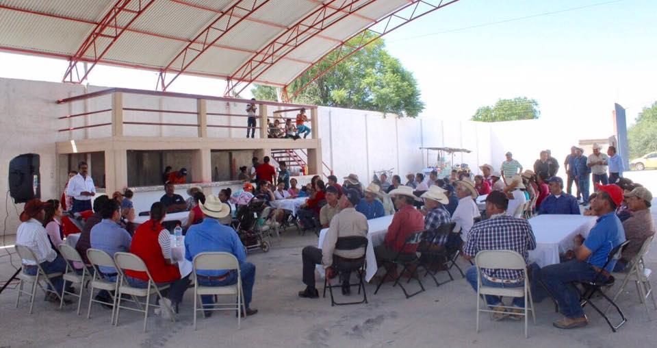 El Diputado Local, Hugo René estuvo presente en la Delegación de Los Azulitos
