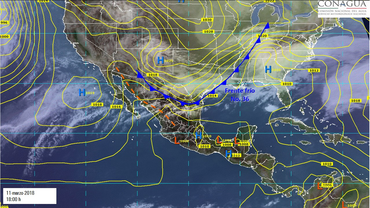 Photo of Frente frío número 36 trae lluvias en el país