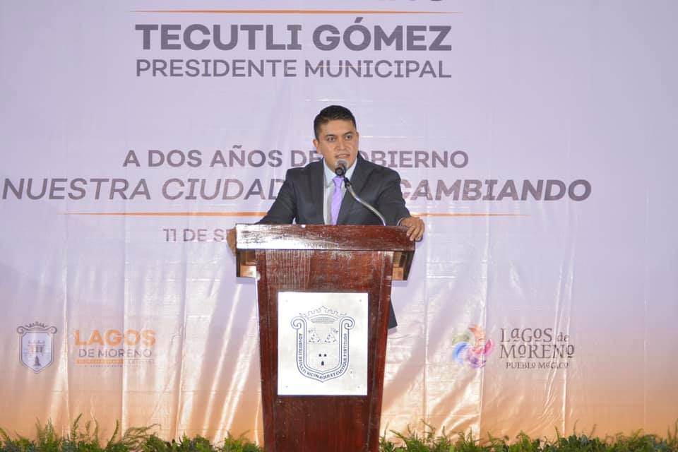 Photo of Segundo Informe de Gobierno, del presidente municipal Tecutli Gómez