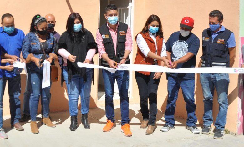 El Alcalde Tecutli Gómez dio inicio a la reconstrucción de la calle Josefa Ortiz de Domínguez en la comunidad de Los Azulitos