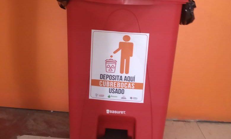 La Dirección de Ecología y Protección del Medio Ambiente colocará contenedores en dependencias para depositar exclusivamente los cubrebocas