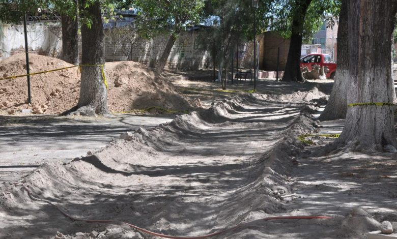 Las obras del Jardín Grande que se encuentra a un costado de La Calzada, concluirá en un tiempo de 8 a 10 semanas