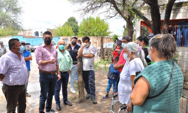 El Alcalde Tecutli Gómez estuvo en las zonas afectadas por las inundaciones